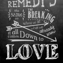 Lyric chalk graphic