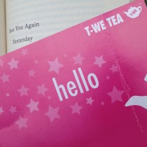 Hello bright pink bookmark