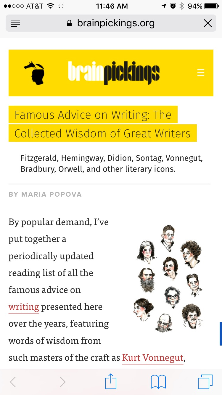 Famous Advice on Writing