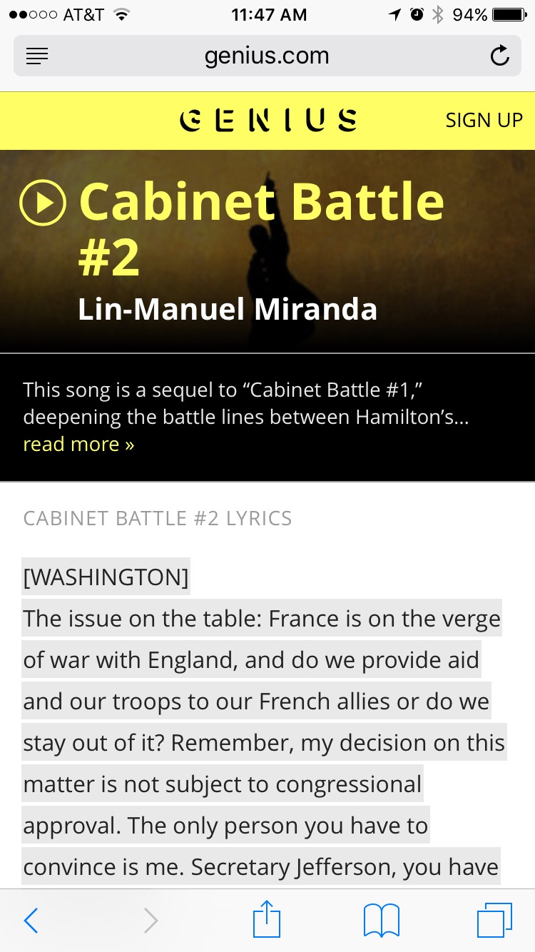 Genius.com Cabinet Battle #2 lyrics
