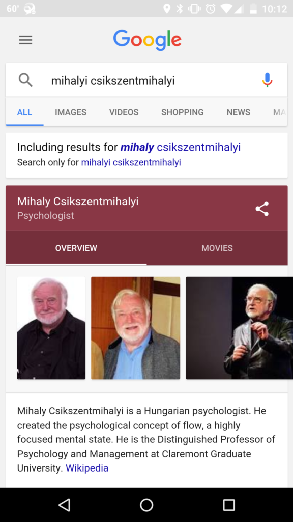 MIHALY CSIKSZENTMIHALYI_google